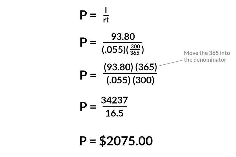 Calculate Simple Interest Principal Rate Or Time