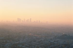 City Skyline through smog