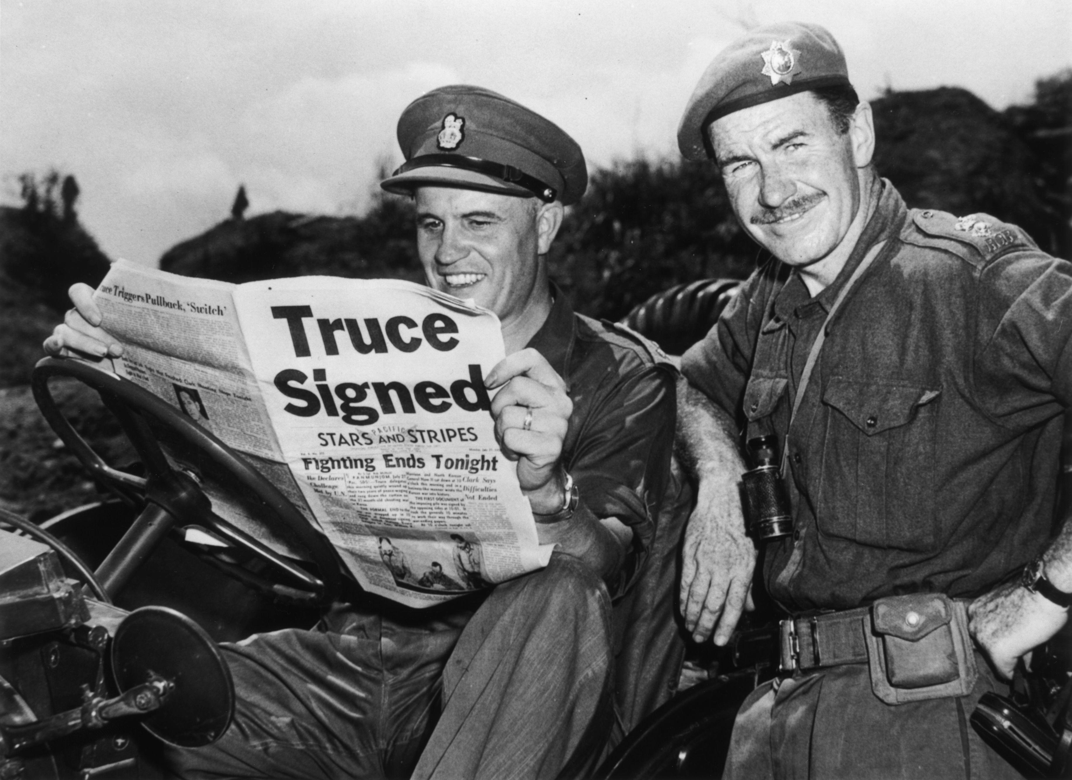 Truce at end of Korean War