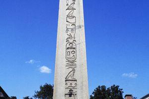 Obelisk of Theodosius I against a blue sky