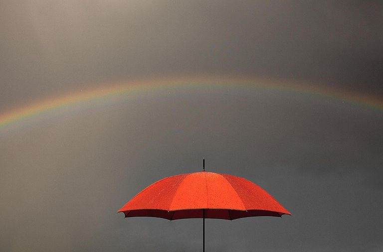 Umbrella and Rainbow