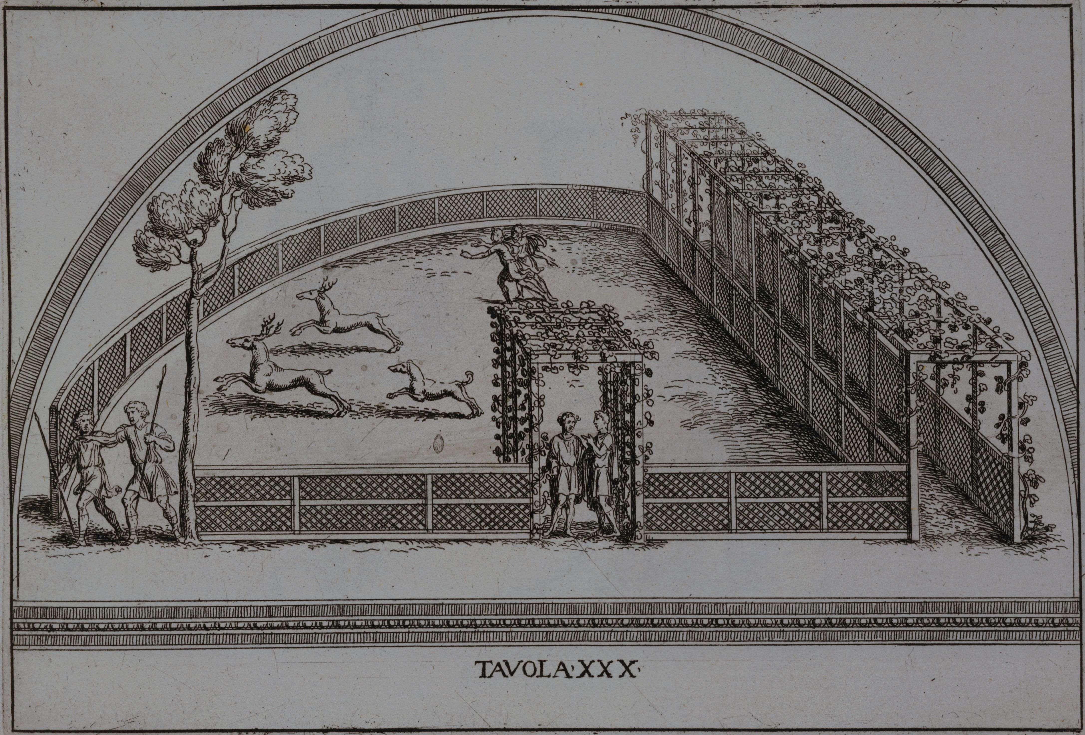 Illustration of an Enclosure for Stag Hunting