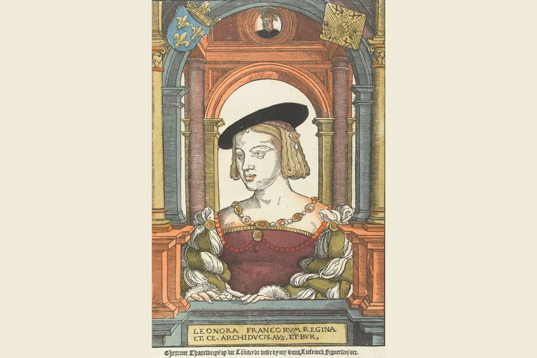 Eleanor of Austria from a painting by Pieter Coecke van Aelst the Elder