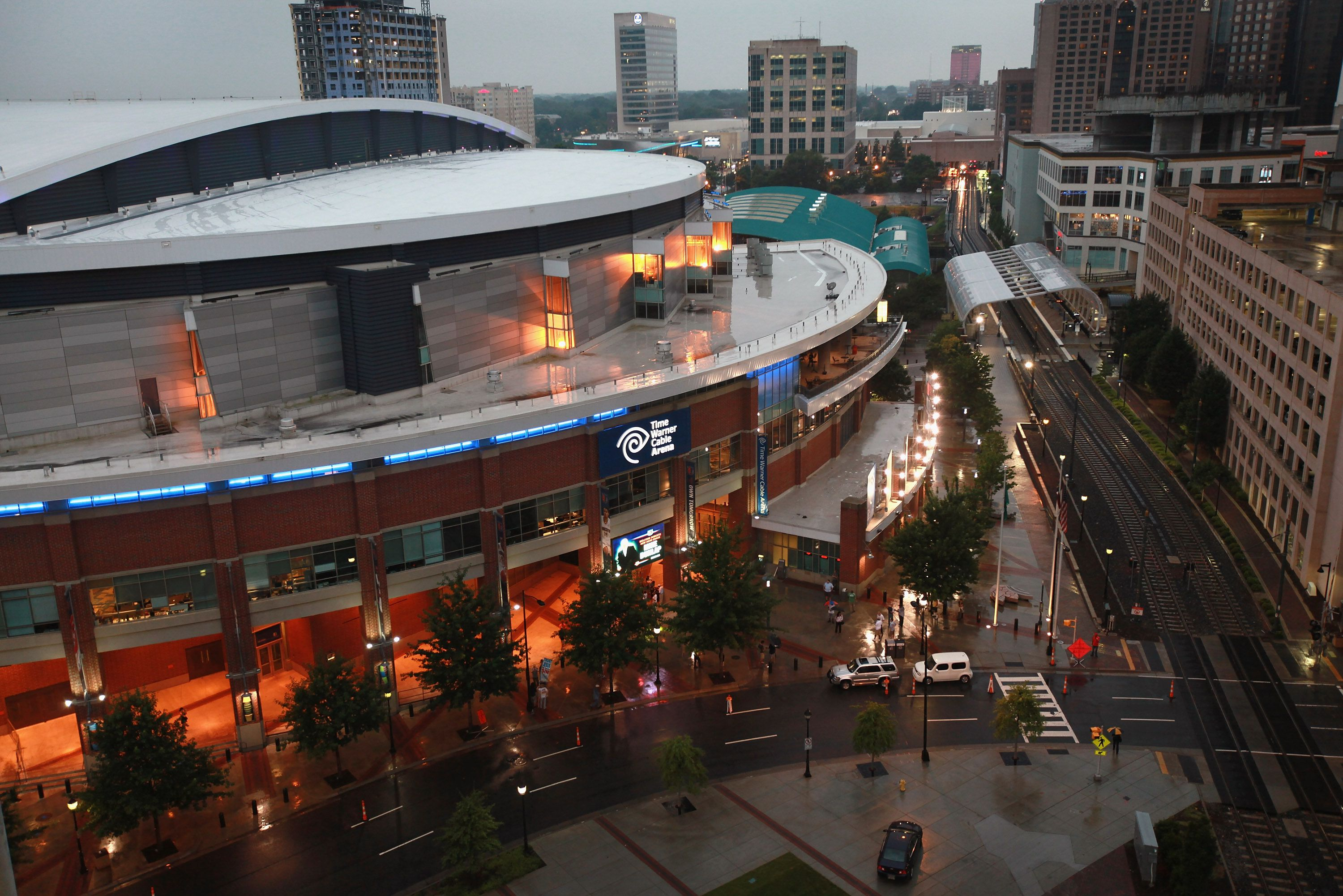 The Time Warner Cable Arena, also known as the Charlotte Bobcats Arena, in North Carolina