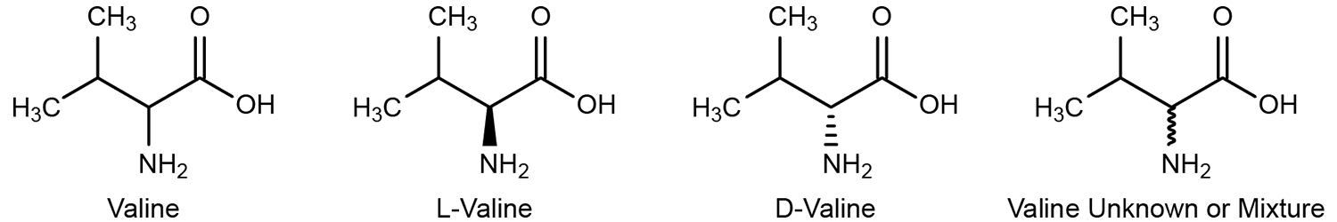 Valine Stereostructures