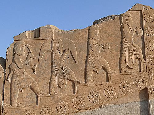 Relief sculpture from Tachara, Darius the Great's private palace at Persepolis.