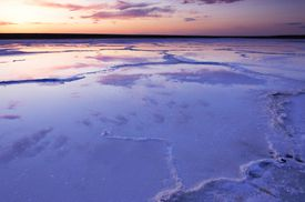 Sunset after Aral Sea