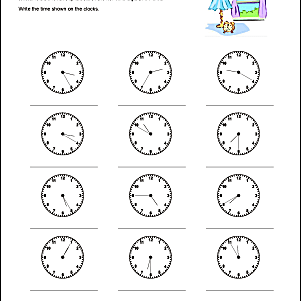 These math worksheets help students tell time to 10, five ...