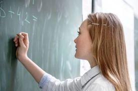 Student works on a mathematics problem