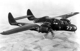 YP-61 Black Widow in flight