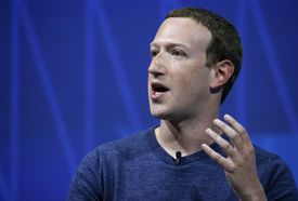 Facebook's founder and CEO Mark Zuckerberg speaks to participants during the Viva Technologie show at Parc des Expositions Porte de Versailles on May 24, 2018 in Paris, France.