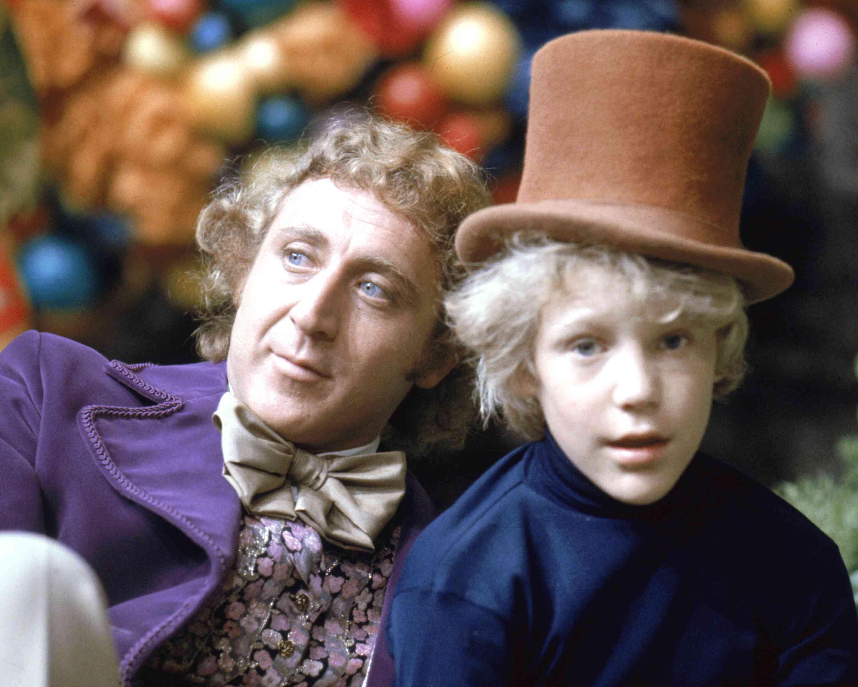 Gene Wilder y Peter Ostrum en el personaje de Willy Wonka y Charlie
