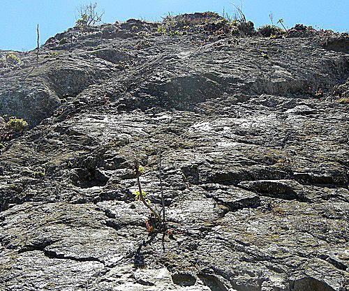Slickenside on mountain crop