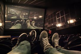 feet at rest at the movies