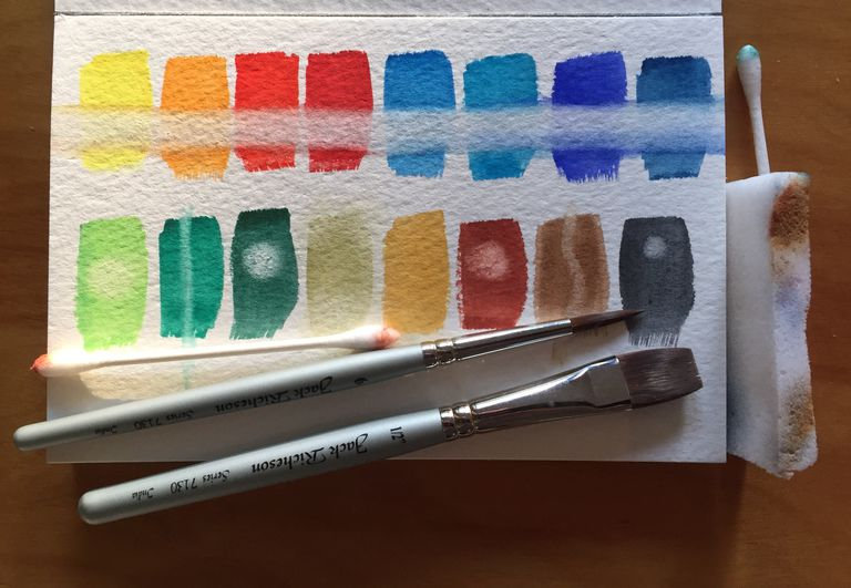 Various ways to fix watercolor mistakes