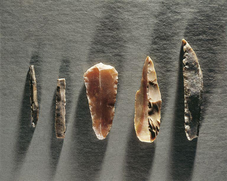 Upper Paleolithic Stone Tools from France: gimlet (drill); blade; scraper; burin; scraper
