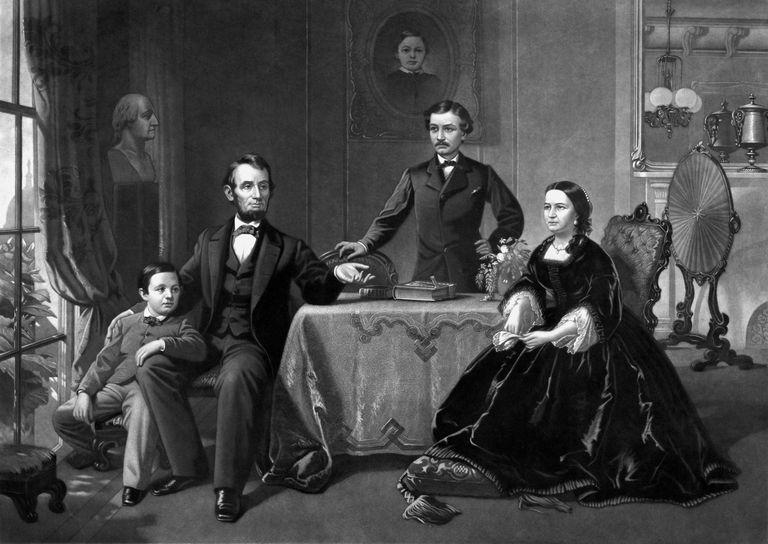 Digitally restored vintage print of President Abraham Lincoln