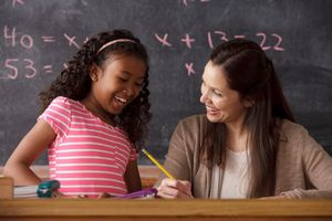 a teacher with a student