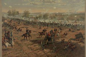 Prang Painting of Gettysburg