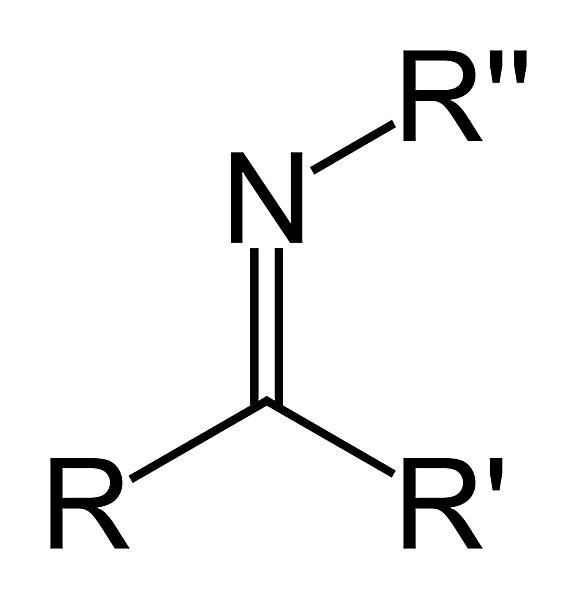 The formula of the secondary ketimine functional group is RC(=NR)R'.