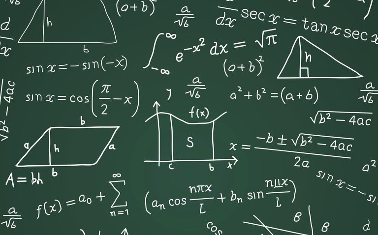 Math Formula Blackboard Calculation