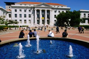 Sproul Hall and Plaza on Campus of University of California, Berkeley