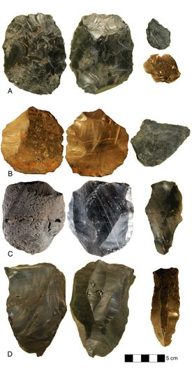 Sets of Levallois and Bifacial Tools from Nor Geghi 1.