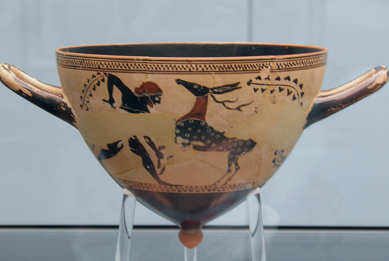 Heracles capturing the Ceryneian Hind