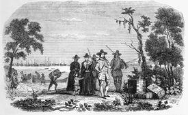 John Winthrop Landing in Massachusetts