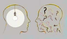 Illustration of two silhouettes in conversation about rhetorical questions