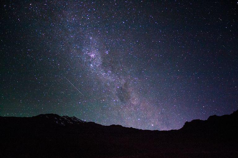 Milky Way rising over Mt. Ruapehu, New Zealand