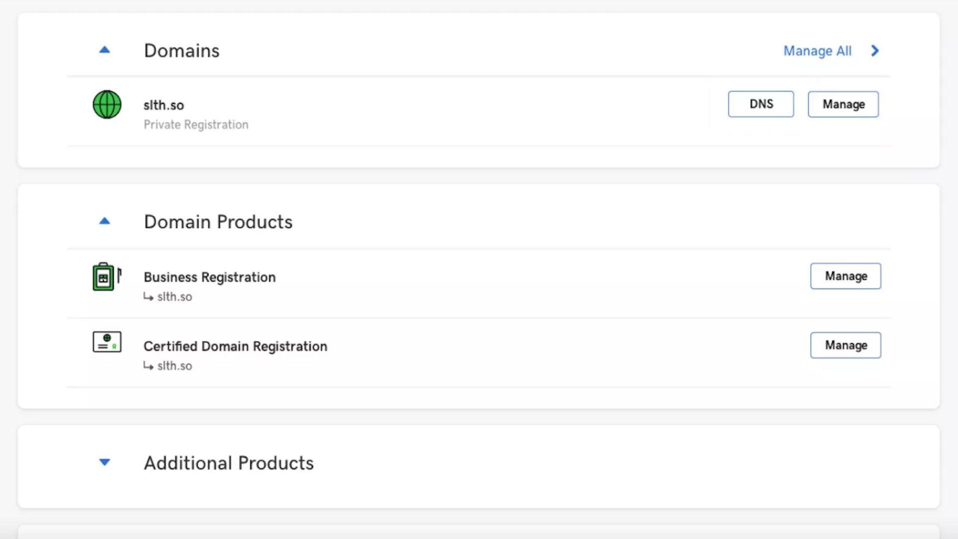 A screenshot of GoDaddy,com.