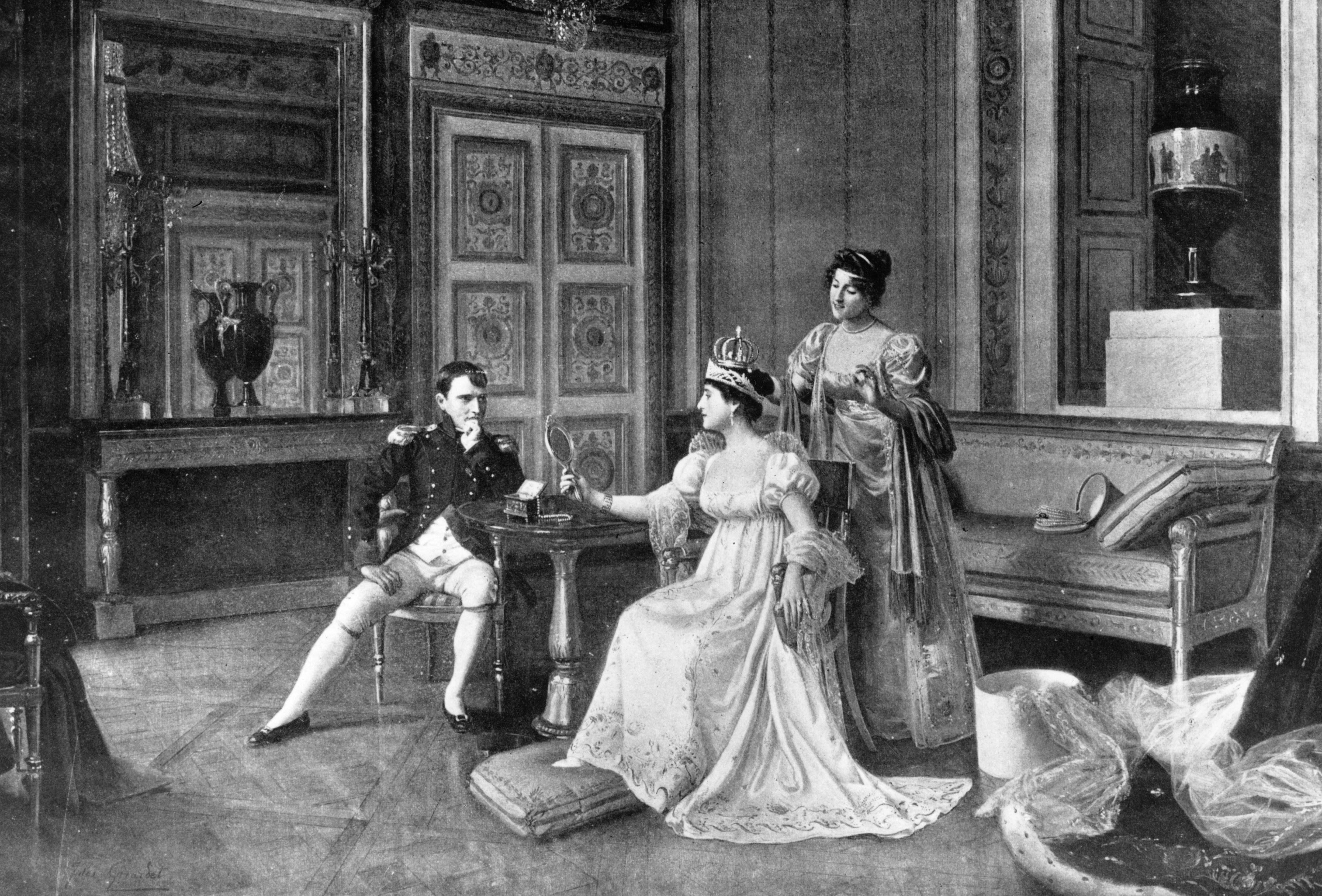 Napoleon Bonaparte (1769 - 1821) and his wife Josephine De Beauharnais