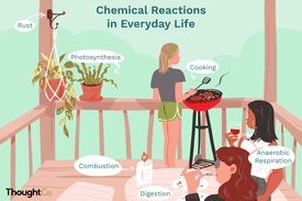 Examples of chemical reactions in everyday life: rust, combustion, photosynthesis, digestion, cooking, anaerobic respiration