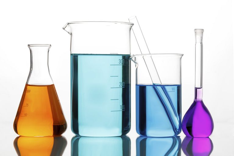 Many liquids in a chemistry lab are aqueous solutions.