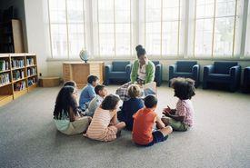 Estudiantes de primaria en el sistema educativo de Estados Unidos