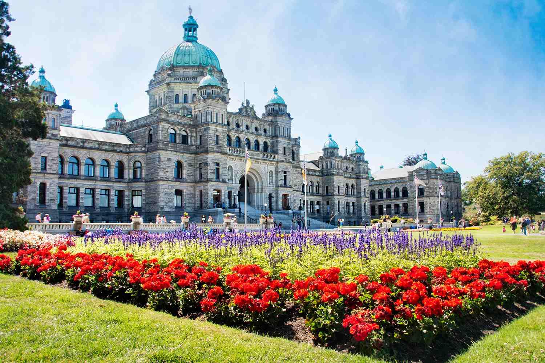 British Columbia Parliament Buildings in Victoria