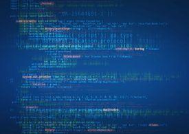 Computer language on screen