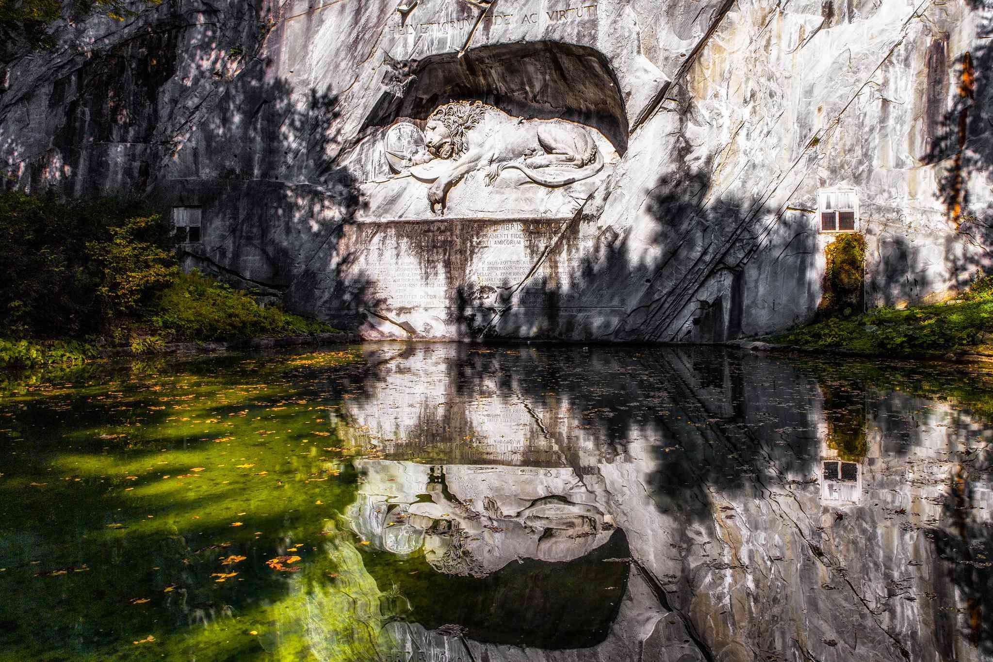 Löwenmonument im Kanton Luzern, Schweiz.