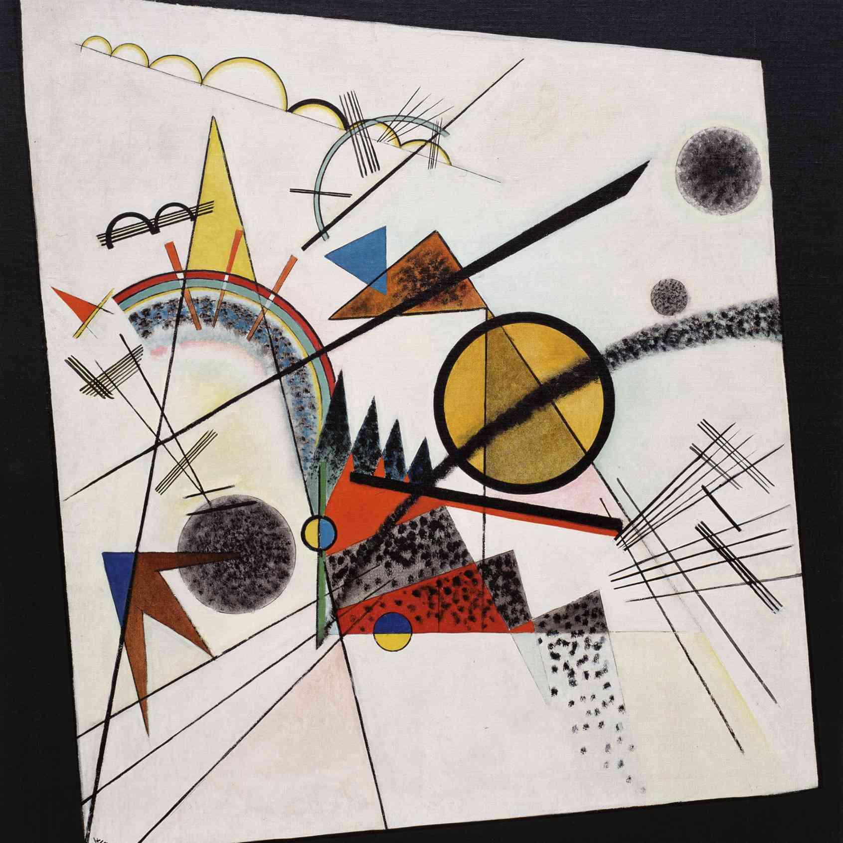 Wassily Kandinsky (Russian, 1866-1944) Wassily Kandinsky (Russian, 1866-1944). In the Black Square (Im schwarzen Viereck), June 1923. Oil on canvas. 38 3/8 x 36 5/8 in. (97.5 x 93 cm). Solomon R. Guggenheim Founding Collection, By gift 37.254. Solomon R. Guggenheim Museum, New York.