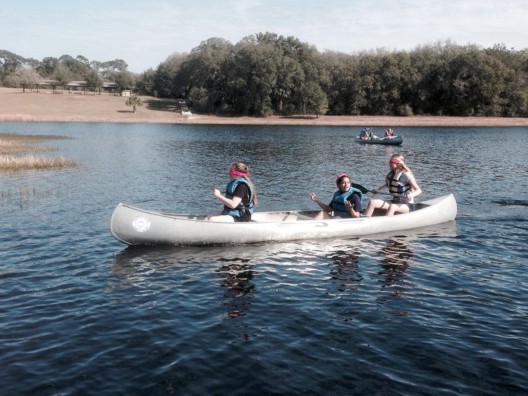 Students Paddle Blindfolded