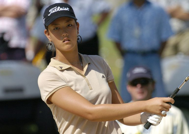 14-year-old Michelle Wie at the 2004 Sony Open