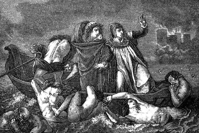 dante and virgil or the barque of dante