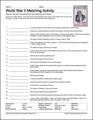 World War Ii Printable Worksheets And Coloring Pages