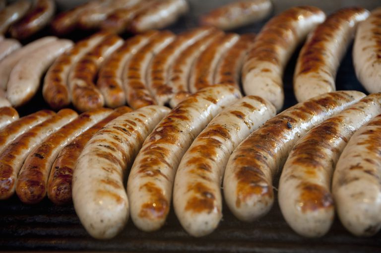 Nuremberg sausages, Nuremberg, Bavaria, Germany