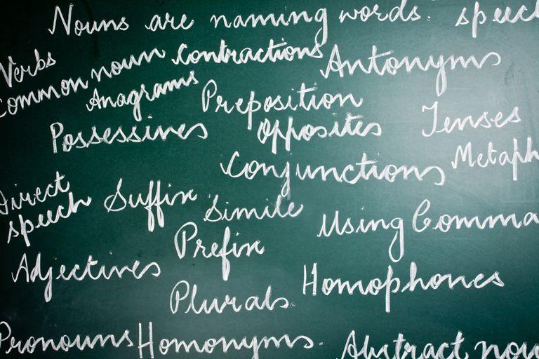 words on a chalk board