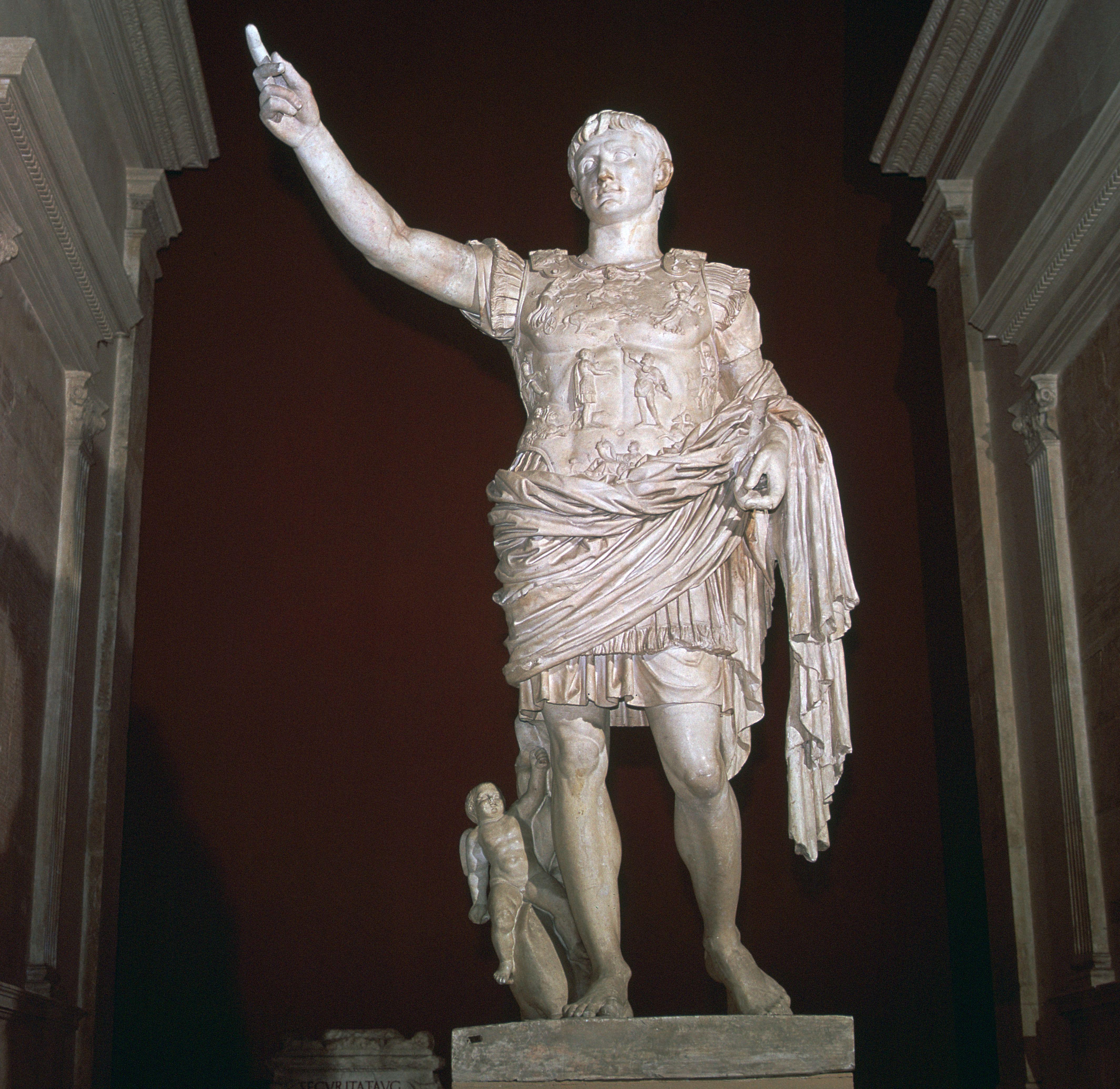 Statue of the Roman Emperor Augustus, 1st century BC.