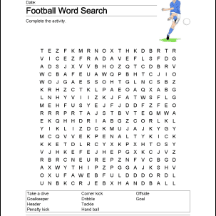 Football Printables For Your Classroom