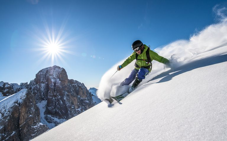 Man skiing off piste