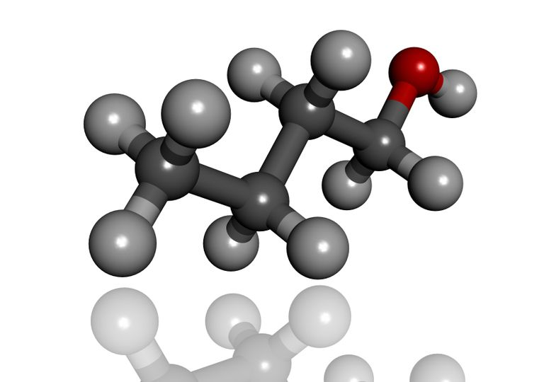 Illustration of a butanol molecule